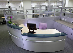 A Metal Reception Desk At Great Price