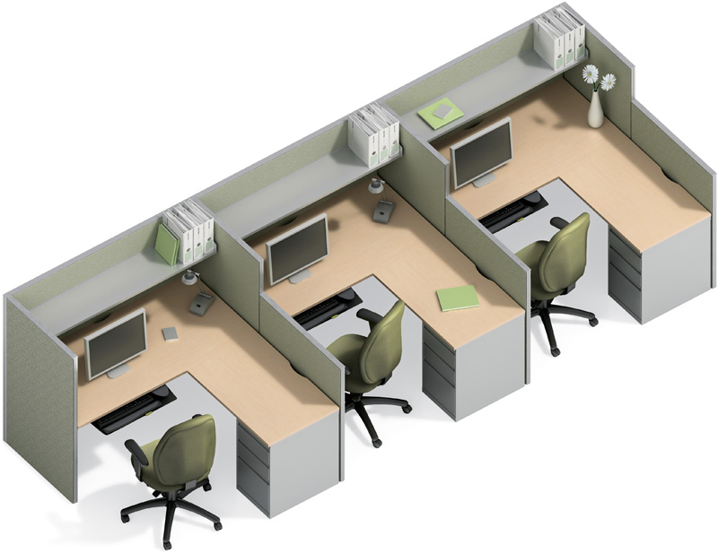 5x5 cubicle workstation