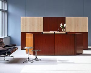 Cherry Reception Desks and Other Reception Furniture