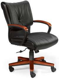 Contemporary Black Leather Chairs For Atlanta Businesses
