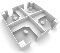 Office Cubicle Layout Design Cubicle Layout Tampa Florida