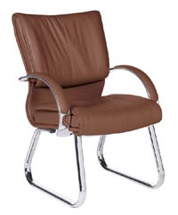 leather office guest chairs from rof for offices nationwide