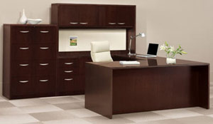 Mahogany Executive Desk From Refurbished Office Furniture