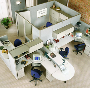 New office cubicles for New office layout