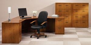 Oak Reception Desk from ROF Furniture