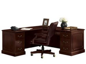 used mahogany office desks for traditional and classic style
