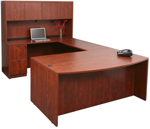 offering space and style u shaped desks can fit two people or can be used by one similar to l shaped desks u shaped desks are offered with