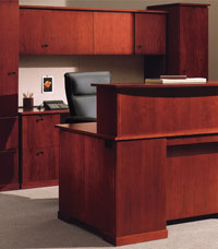 Wood Reception Desk from ROF Furniture