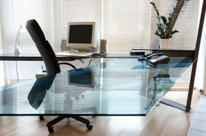 Glass Reception Desk from ROF Furniture