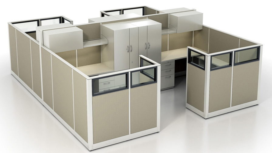 Multiple Office Cubicle Dimensions Available   ROF