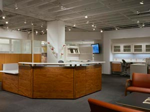 U-Shaped Reception Desks from Atlanta to Omaha and Everywhere In Between