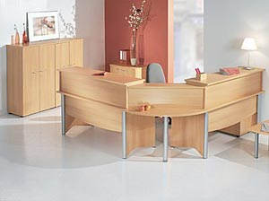 Used Maple Reception Desks Nationwide from ROF, Inc.